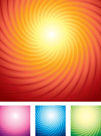 special sunburst backgrounds set  Stock Vector - 7684808