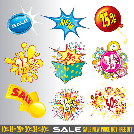 Set of sale and discount isolated tags Stock Vector - 7684882