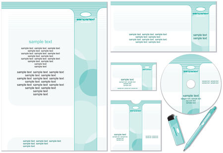 Company template easy editable flat colors without gradients.