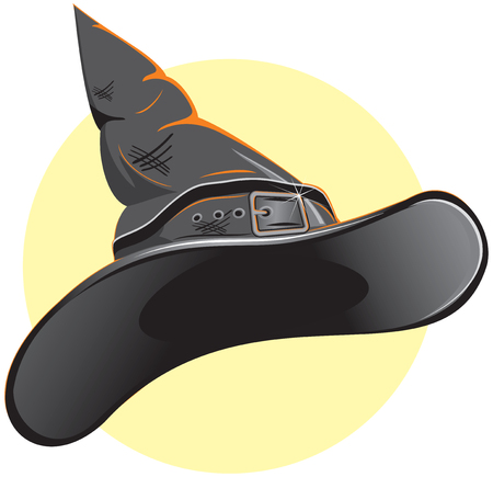 alfarero: Hat de bruja o Hat Wizard  Vectores