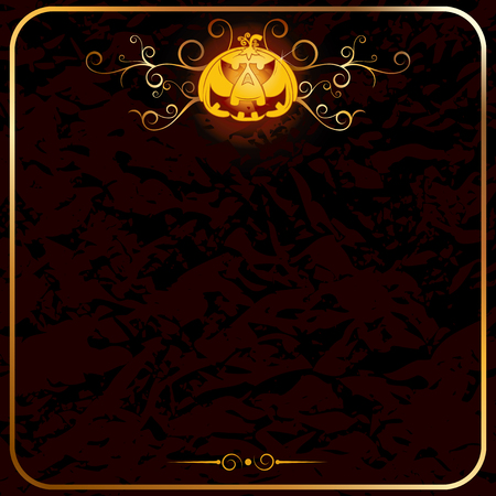 trick or treat: Halloween backdrop-empty card template