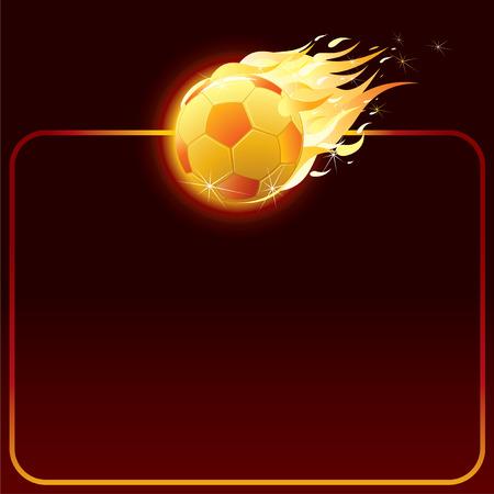 scorebord:   Fiery soccer ball-achtergrond voor uw tekst (alleen verlopen gebruikt)