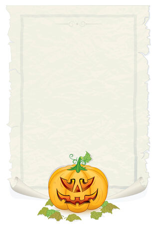 Aged Halloween Parchment- background for your greeting text Stock Vector - 7714294