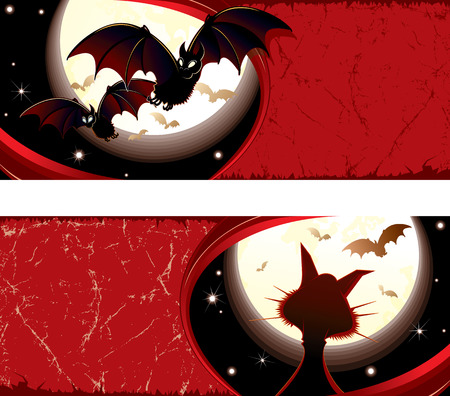 Detailed grunge Halloween   banner  Vector