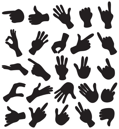 Cute cartoon hands Stock Vector - 7714305