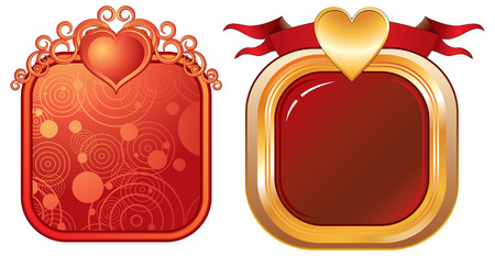 Luxury frames with hearts Vector