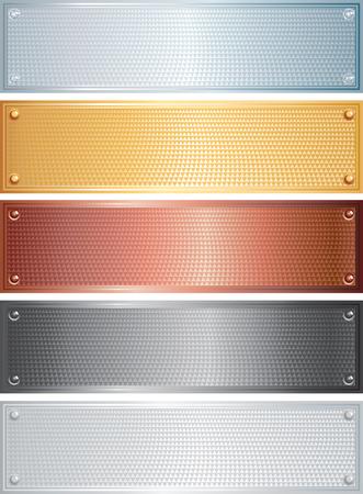 platin:   Satz von Metall Platten  Banner