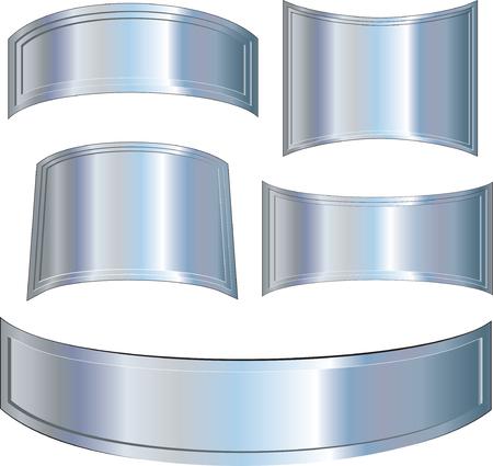 Metallic plates set Stock Vector - 7714352