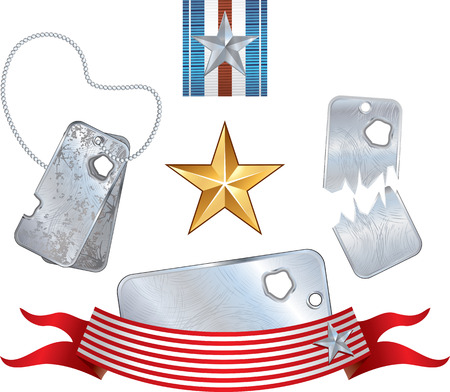 air hole: Soldier dog tags,symbols