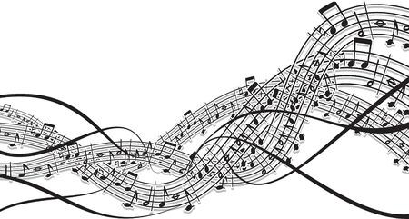 Music wave theme Vector