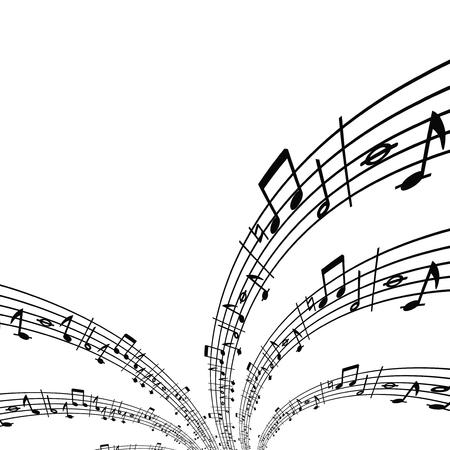 Musical notes theme Vector