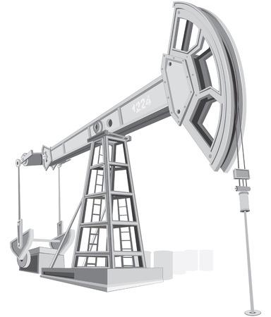 torre de perforacion petrolera: Serie de biela-manivela-industrial  Vectores