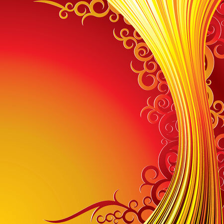 Flame Floral .Conceptual  Background Stock Vector - 7714360
