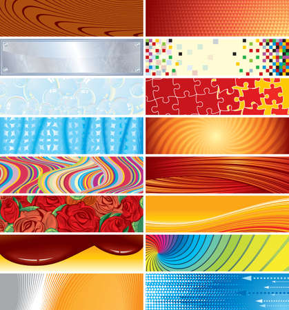 Set of different  banner backgrounds (234x60) Stock Vector - 7714454