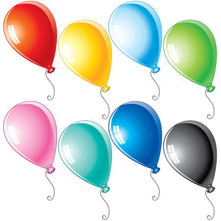 Colorful cartoon balloons for your design Vector