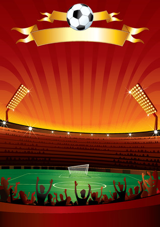 open fan: Soccer background for your design  Illustration