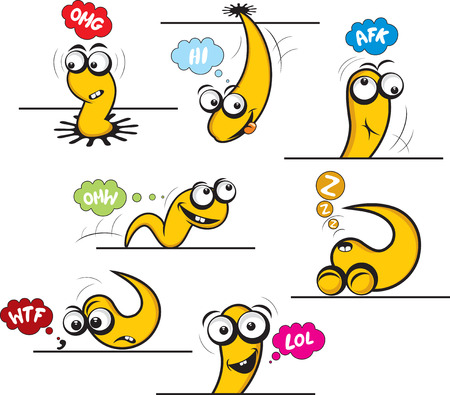 Amazing funny snake emoticons Vector