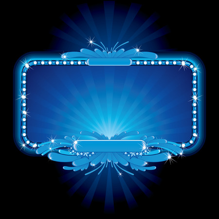 Blue luxury neon sign- image, no meshes used Vector