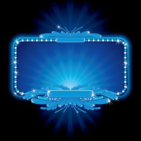 letrero: Lujo azul neón-imagen de signo, no mallas utilizados