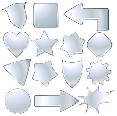 triangle button: colecci�n de objetos met�licos, iconos aislados