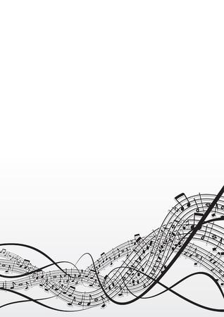 clave de fa: Fondo de notas musicales