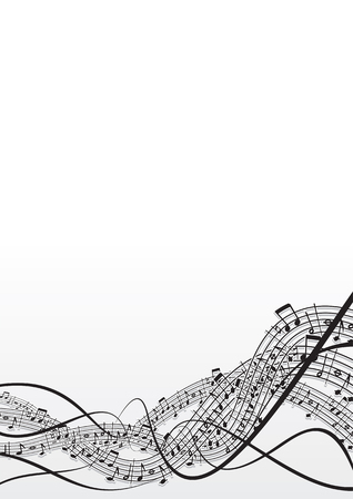 style sheet:  musical notes background  Illustration