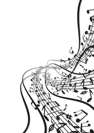 Music notes fresh background Stock Vector - 7739217