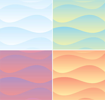 Soft colors waves backgrounds set Stock Vector - 7739458