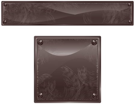 black stone: Black brushed surface sign   illustration