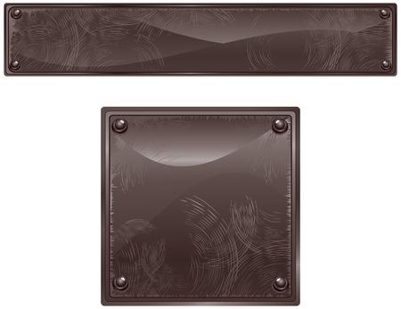 stein schwarz: Black Geb�rstete Oberfl�che Zeichen-Abbildung  Illustration