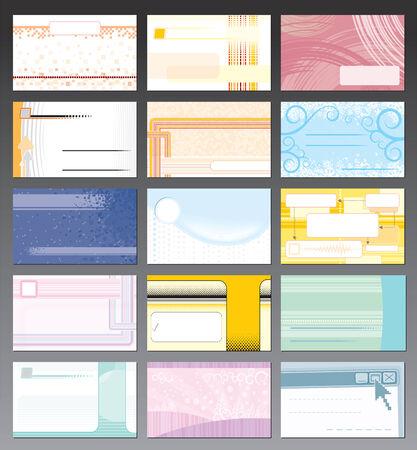 personalausweis: Visitenkarte-Kollektion mit leicht bearbeitbaren Farben ohne Farbverl�ufe  Illustration