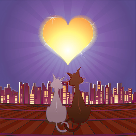 Cats in love Stock Vector - 7739222