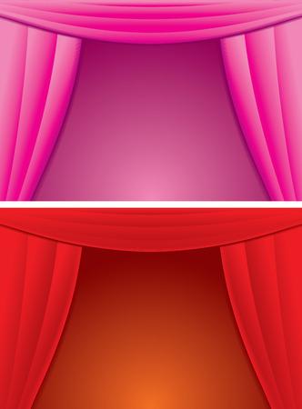 Elegance curtain background Stock Vector - 7739210