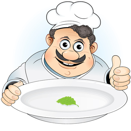Chef with new diet Stock Vector - 7739488