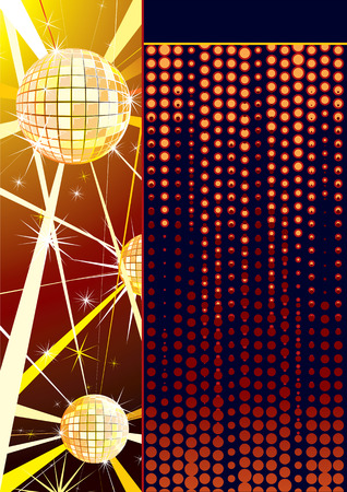 sound card: Disco backdrop template