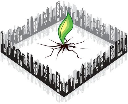 rebuild: Cracked earth Illustration