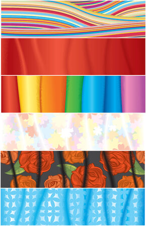textile banners for your text (simple gradients) Vector