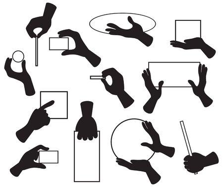 thumb keys: Ilustraci�n de las manos con diversos objetos