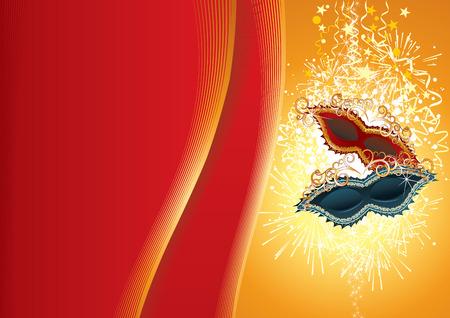 parade confetti: Festivo fondo de Carnaval. Ilustraci�n (s�lo degradados)