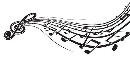 chiave di violino: Elemento di design musica