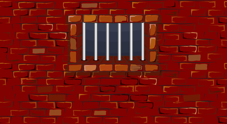 without window: Seamless prison wall with window-  without gradients ,separated elements