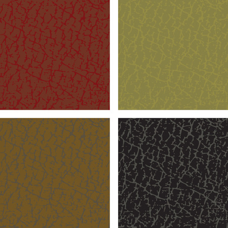 Seamless  leather patterns - easy editable colors without gradients Stock Vector - 7739213