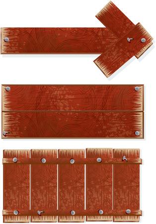 letrero: Carteles de madera - ilustración