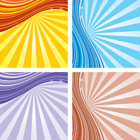 elegant Retro star burst background  . To see more - please visit at my gallery. Stock Vector - 7782920