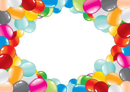 celebration balloon frame.  Stock Vector - 7782948