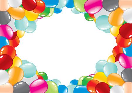 carnival girl: marco de globo de celebraci�n.  Vectores