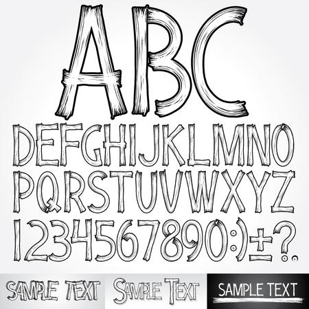 ancient alphabet: Stylized  alphabet.