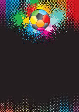 football goal: Festive soccer background.  Illustration
