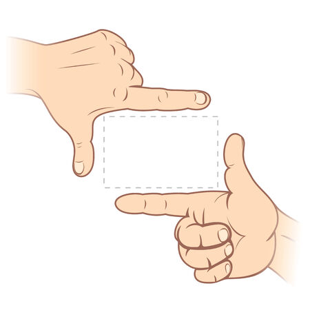 Finger frame. To see similar - please visit at my gallery. Vector