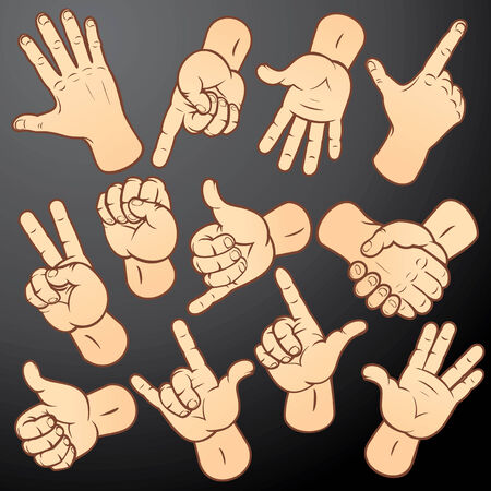 Nauwkeurigheid hands-verschillende gebaren collectie voor uw ontwerp. Om te zien vergelijkbaar - kunt u terecht op mijn galerij. Vector Illustratie